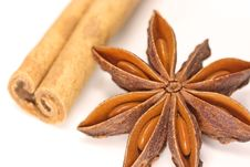 Free Anise Star And Cinnamon Stick Stock Photography - 3671772