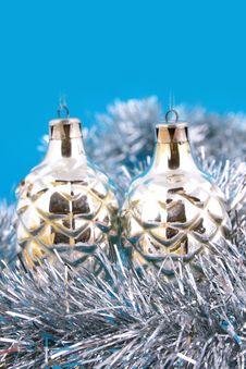 Free Christmas Ball On A White Background Royalty Free Stock Photo - 3671975
