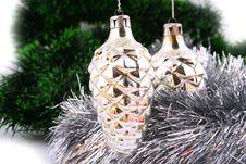 Free Christmas Ball On A White Background Royalty Free Stock Photos - 3672148