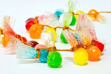 Free A String Of Colourful Sweets Royalty Free Stock Photography - 3672477