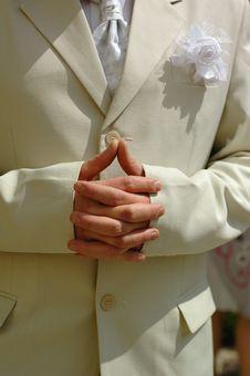 Free Bridegroom Hands Royalty Free Stock Image - 3673316
