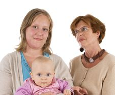 Free Three Generations 13 On White Royalty Free Stock Images - 3673349