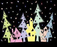 Christmas Town Royalty Free Stock Photos