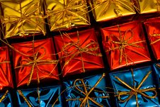 Multicolored Gifts Stock Photo
