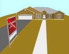 Free Sold House Illustration Stock Image - 3676031