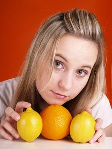 Free Woman With Fruits Stock Photo - 3676430
