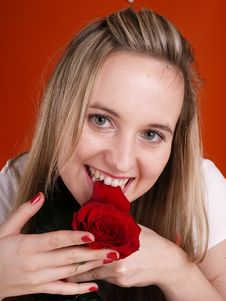 Free Girl With Rose Stock Image - 3676781