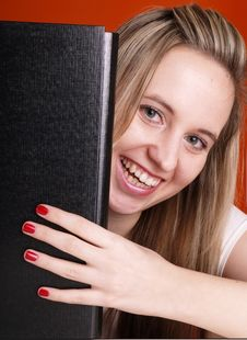 Free Smiling Woman With Folder Stock Photo - 3676930