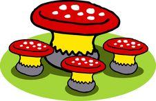 Free Mushroom Chair Royalty Free Stock Photography - 3676997