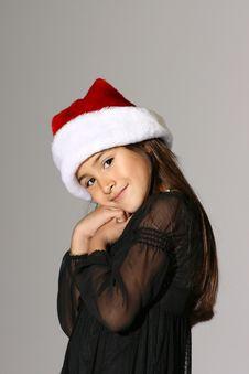Free Santa Girl Royalty Free Stock Photo - 3677365