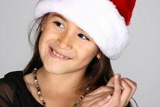Free Santa Girl Royalty Free Stock Photography - 3677377