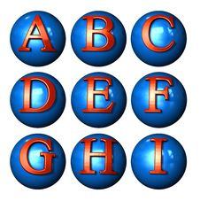 Free Icon Ball Letters Stock Photography - 3678342