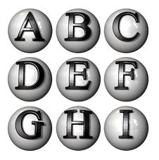 Free Icon Ball Letters Royalty Free Stock Image - 3678386