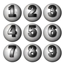 Free Icon Ball Numbers Royalty Free Stock Images - 3678389