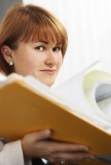 Free Women Holding A File Stock Photos - 3678543