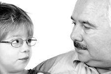 Free Grandfather Grandson Forehead Royalty Free Stock Photos - 3678618