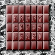 Free New Year Chocolate On A Foil Royalty Free Stock Photos - 3678988