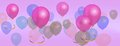 Free Panorama Balloons Birthday Celebration Background Royalty Free Stock Photos - 36705538
