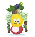 Free Cute Salad Monster. Characters Creation Stock Photo - 36706790
