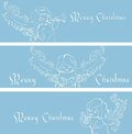 Free Christmas Banner Background With Singing Angels. Stock Photography - 36706812