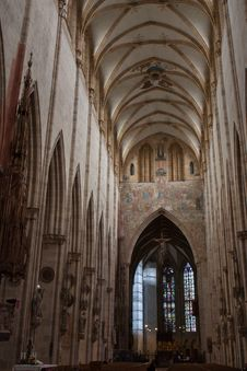 Free Ulm Cathedral Interior Stock Photography - 36702962