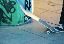 Free Skateboard Concrete Board Royalty Free Stock Photography - 36705097