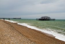 Free West Pier Ruins, Brighton Beach, England Stock Photos - 36705703
