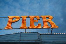Brighton Pier Lights, England Stock Photography