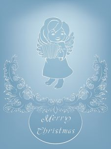 Free Christmas Background With Singing Angel. Stock Images - 36706804