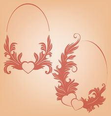 Free Valentine S Background  Heart  Floral Motif Stock Image - 36706811