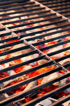 Hot Cast Iron Grill Stock Photography