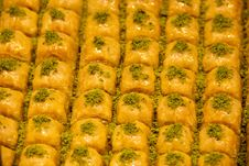 Free Baklava Background Royalty Free Stock Photography - 36708677