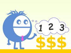 Free Counting My Profit Stock Image - 36709401