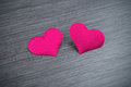 Free Two Red Hearts On A Black Board Royalty Free Stock Photo - 36712045