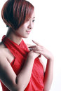 Free Chinese Girl Wearing A Red Dress Royalty Free Stock Photos - 36713938