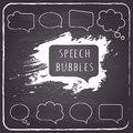 Free Speech And Thought Bubbles On Chalkboard Background. Stock Images - 36717194