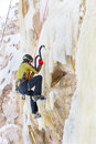Free Young Man Climbing The Ice Royalty Free Stock Photo - 36719495