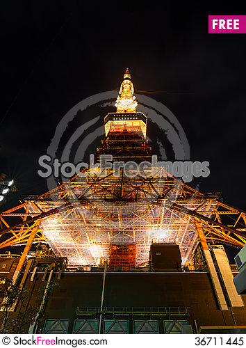 Free Tokyo Tower At Night Royalty Free Stock Photo - 36711445