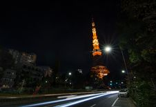 Free Night Time View Of Tokyo Tower Stock Images - 36711524