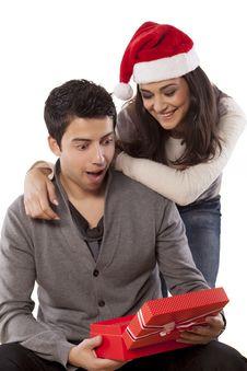 Free Christmas Surprise Royalty Free Stock Photo - 36712285