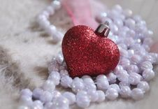 Free Glass Heart And Beads Stock Photo - 36713610