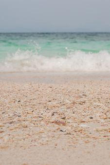 Free Beach Sand And Sea Water Stock Photography - 36714032