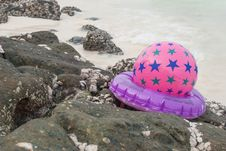 Free Beach Ball In The Sand Stock Image - 36714251