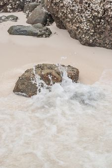 Free Beach Sand And Sea Water Royalty Free Stock Images - 36714349