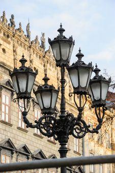 Free Old Streetlight In Lviv, Ukraine Stock Photography - 36715892
