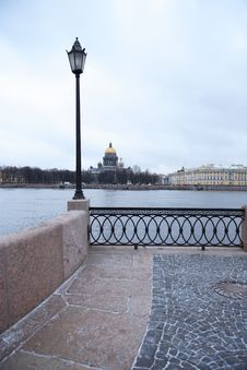 Embankment In St. Petersburg Royalty Free Stock Photo