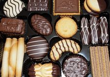 Free Box Of Chocolate Biscuits Royalty Free Stock Image - 36717196