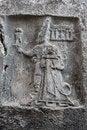 Free God Sharruma And King Tudhaliya, Rock Carving In Yazılıkaya Royalty Free Stock Images - 36761069
