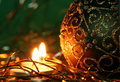 Free Christmas Candles And Ball Ornaments Stock Image - 3681711