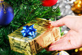 Free Golden Box Present Stock Photography - 3684072